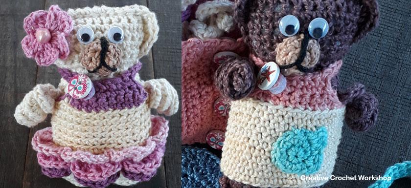 Fold Up Teddy Crochet Play Set Accessories Part One | Free Crochet Along | Creative Crochet Workshop #crochet #crochetalong #crochetplay #ccwfoldupteddybag