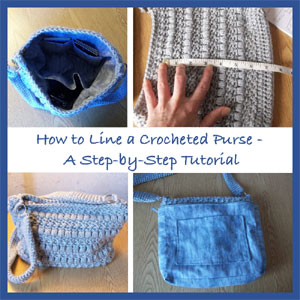 Lining a Crochet Purse from CrochetnCrafts