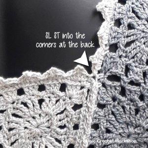 The Harmony Grey Vest tutorial | Creative Crochet Workshop #freecrochetpattern