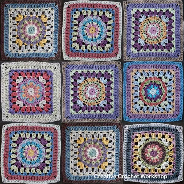 Crochet A Block Afghan 2018 Joining & Edging - Free Crochet Pattern | Creative Crochet Workshop @creativecrochetworkshop #freecrochetpattern #grannysquare #afghansquare #crochetalong #ccwcrochetablock2018