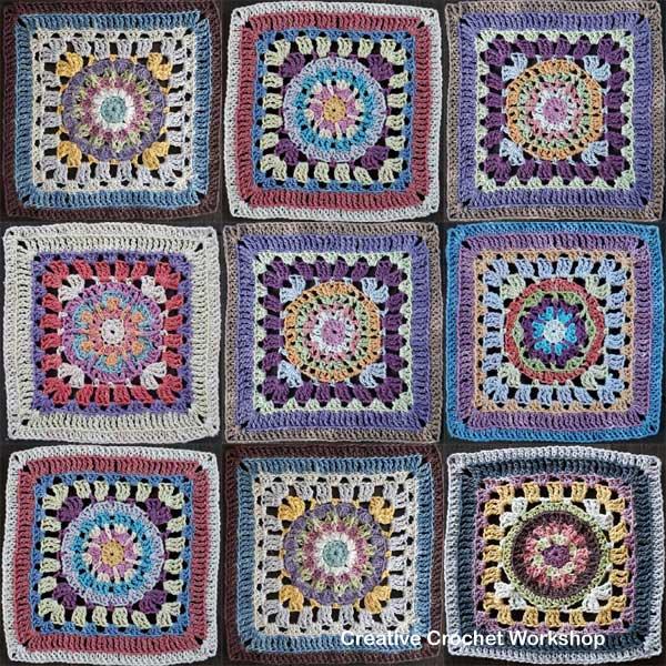 Crochet A Block Afghan 2018 Joining & Edging - Free Crochet Pattern | Creative Crochet Workshop @creativecrochetworkshop #freecrochetpattern #grannysquare #afghansquare #crochetalong #ccwcrochetablock2018