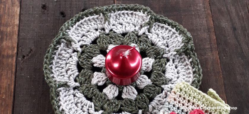 Christmas Flower Doily - Free Crochet Pattern | Creative Crochet Workshop #2018ChristmasInJulyCAL