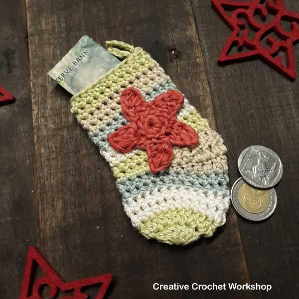 Multi Use Mini Christmas Stocking - Free Crochet Pattern | Creative Crochet Workshop #2018ChristmasInJulyCAL