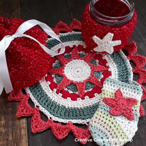 Sparkly Christmas Gift Set - Free Crochet Pattern | Creative Crochet Workshop #2018ChristmasInJulyCAL