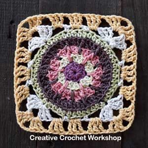 Scrappy Afghan Square 2018 Number Six tutorial - Free Crochet Pattern | Creative Crochet Workshop @creativecrochetworkshop #freecrochetpattern #grannysquare #afghansquare #crochetalong #ccwcrochetablock2018