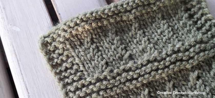 Ripple Rib Knit Square Creative Crochet Workshop