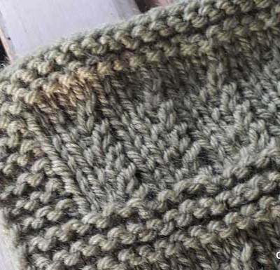RIPPLE RIB KNIT SQUARE