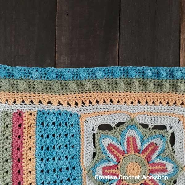 Scrapsadelic Groovy Blanket Part Three - Free Crochet Along | Creative Crochet Workshop #ccwscrapsadelicgroovyblanket #crochetalong #scrapsofyarn