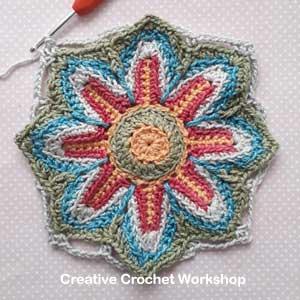 Scrapsadelic Groovy Blanket Part One - Free Crochet Along | Creative Crochet Workshop #ccwscrapsadelicgroovyblanket #crochetalong #scrapsofyarn