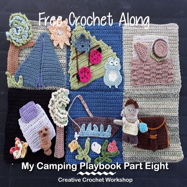 My Camping Playbook Part Eight | Free Crochet Pattern | Creative Crochet Workshop @creativecrochetworkshop #ccwcampingplaybookcal #freecrochetalong #crochetquietbook