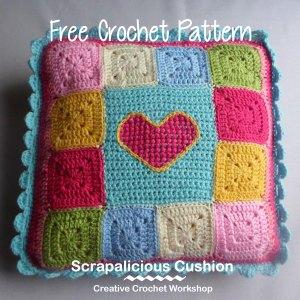 Scraps Of Yarn Series - Scrapalicious Cushion - A Free Crochet Along | Creative Crochet Workshop #ccwscrapaliciouscushion #crochetalong #scrapsofyarn