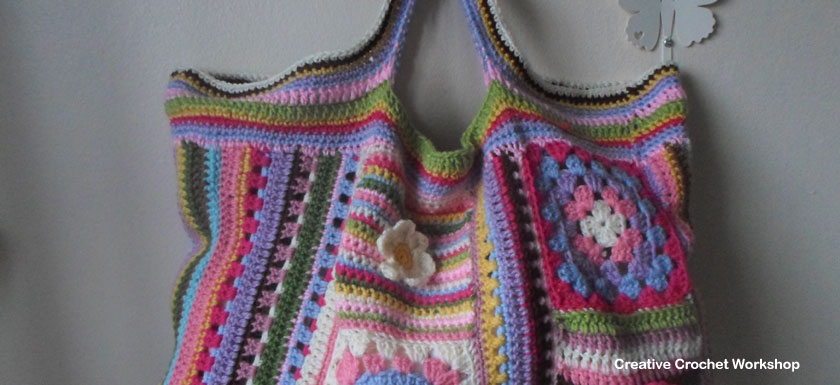 Scrapalicious Bag - A Free Crochet Along | Creative Crochet Workshop #ccwscrapaliciousbag #crochetalong #scrapsofyarn