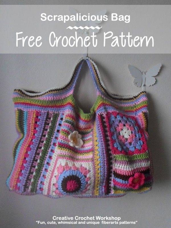 Scrapalicious Bag - A Free Crochet Along | Creative Crochet Workshop #ccwscrapaliciousbag #crochetalong #scrapsofyarn