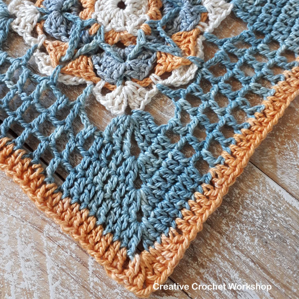 Framed Filet Star Flower Square - Free Crochet Pattern | Creative Crochet Workshop @creativecrochetworkshop #freecrochetpattern #grannysquare #afghansquare #crochetalong #ccwcrochetablock2019