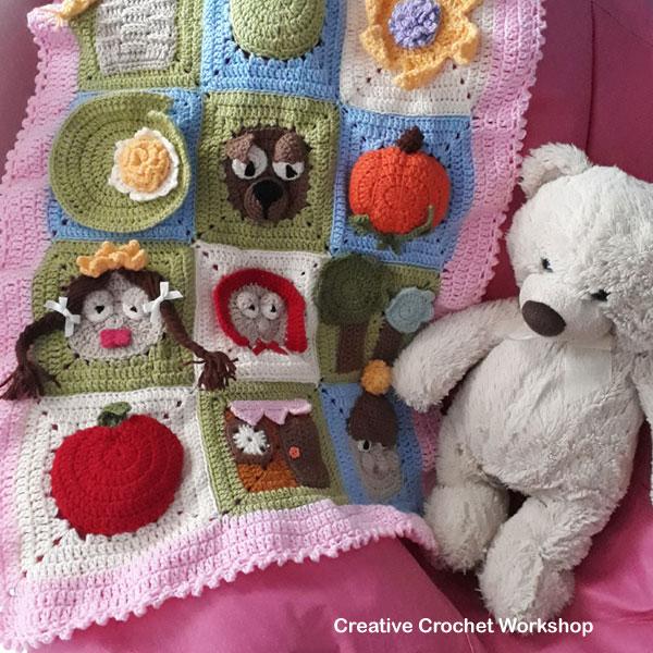 FairyTale Granny Square Series Free Crochet Pattern | Creative Crochet Workshop @creativecrochetworkshop #freecrochetpattern #grannysquare #afghansquare #crochetalong
