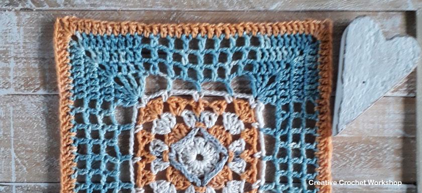 Framed Filet 4 Point Cross Square - Free Crochet Pattern | Creative Crochet Workshop @creativecrochetworkshop #freecrochetpattern #grannysquare #afghansquare #crochetalong #ccwcrochetablock2019