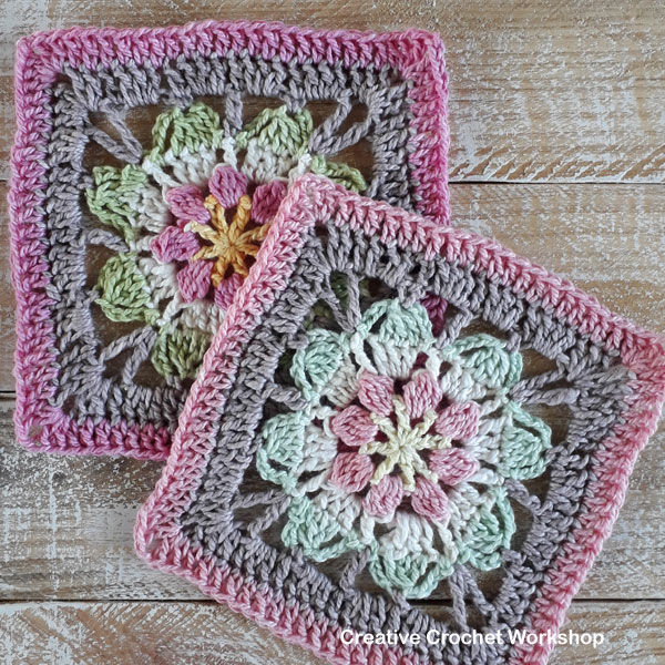 Magic Flower Square - Free Crochet Pattern | Creative Crochet Workshop @creativecrochetworkshop #freecrochetpattern #grannysquare #afghansquare #crochetalong #ccwscrapsrificrainbowblanket