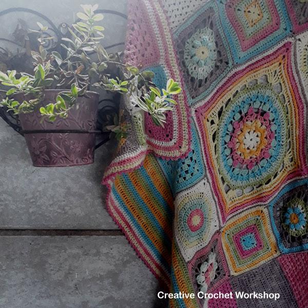 Scrapsrific Rainbow Blanket - Free Crochet Pattern | Creative Crochet Workshop @creativecrochetworkshop #freecrochetpattern #grannysquare #afghansquare #crochetalong #ccwscrapsrificrainbowblanket