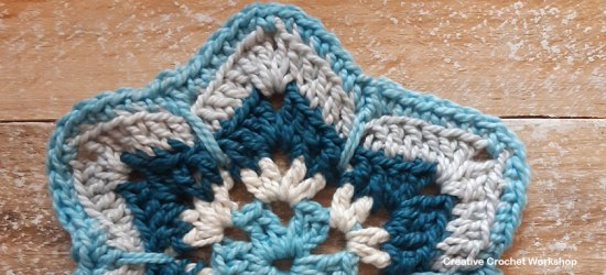 Atasi Hexagon - Free Crochet Pattern | Creative Crochet Workshop #freecrochetpattern #crochet #crochetalong #hexagon @creativecrochetworkshop
