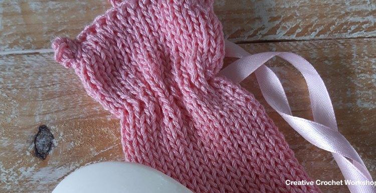Cute Kitty Soap Saver - Free Knitting Pattern   Creative Crochet Workshop #KALCorner #lionbrand #lionbrandyarn