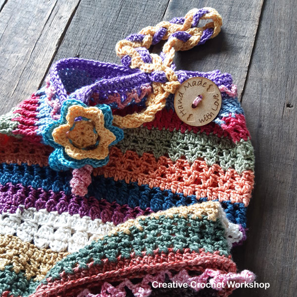 Scrapsrific Rainbow Bag Part Four - Free Crochet Pattern | Creative Crochet Workshop #freecrochetpattern #crochet #crochetalong #crochetbag #ccwscrapsrificrainbowbag @creativecrochetworkshop