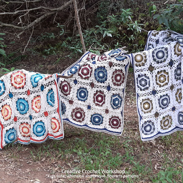The Cassiopeia Throw - Free Crochet Along | Creative Crochet Workshop @creativecrochetworkshop #freecrochetpattern #grannysquare #afghansquare #crochetalong #ccwcassiopeiathrow