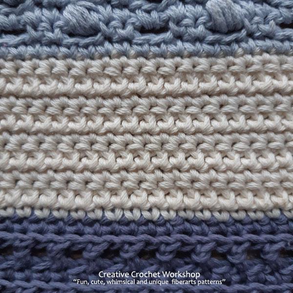 Beach Blues Cal Section Two - Free Crochet Along | Creative Crochet Workshop @creativecrochetworkshop #freecrochetpattern #crochetbabyblanket #crochetalong #ccwbeachbluesbabyblanket