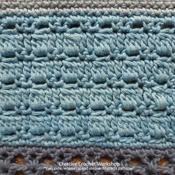 Beach Blues Cal Section Seven - Free Crochet Along | Creative Crochet Workshop @creativecrochetworkshop #freecrochetpattern #crochetbabyblanket #crochetalong #ccwbeachbluesbabyblanket