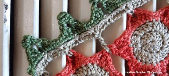 Autumn Velvet Shawl Section 11 & Border - Free Crochet Along   Creative Crochet Workshop @creativecrochetworkshop #freecrochetpattern #crochetshawl #crochetwrap #crochetaccessory #crochetalong #ccwautumnvelvetshawl