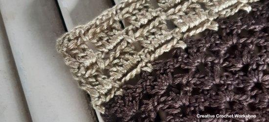 Autumn Velvet Shawl Section Five - Free Crochet Along   Creative Crochet Workshop @creativecrochetworkshop #freecrochetpattern #crochetshawl #crochetwrap #crochetaccessory #crochetalong #ccwautumnvelvetshawl