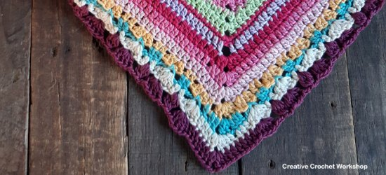 Scrapstasy Bohemian Crochet Blanket Section 9 - Free Crochet Pattern | Creative Crochet Workshop #crochetsquare #afghanblock #afghansquare #freecrochetalong #crochet #crochetblanket #stashbuster @creativecrochetworkshop
