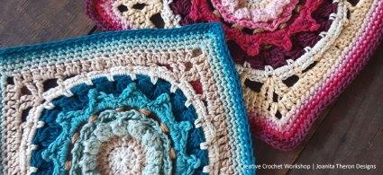 Hama Rose Crochet Square - Crochet A Block 2021   Creative Crochet Workshop @creativecrochetworkshop #crochetsquare #freecrochetalong #crochetblanket #crochetthrow #ccwcrochetablock2021