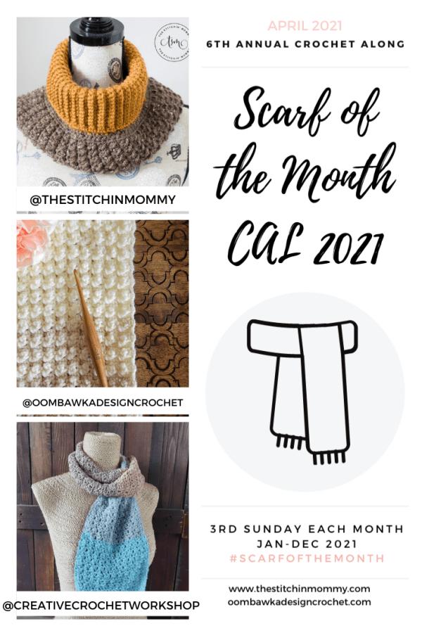 #freecrochetpattern #crochet #crochetaccessory #crochetscarf @creativecrochetworkshop #ScarfoftheMonth @thestitchinmommy @oombawkadesigncrochet