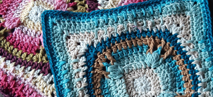 Umiko Glow Crochet Square - Crochet A Block 2021 | Creative Crochet Workshop @creativecrochetworkshop #crochetsquare #freecrochetalong #crochetblanket #crochetthrow #ccwcrochetablock2021