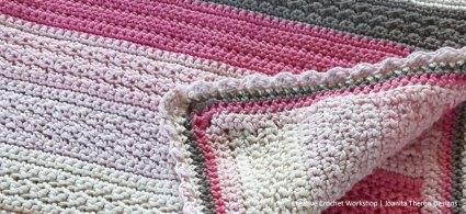 Princess Neapolitan Baby Crochet Blanket Part One - Free Crochet Along | Creative Crochet Workshop @creativecrochetworkshop #freecrochetalong #crochetblanket #crochetbabyjacket #crochetforbaby