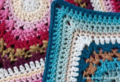 Cable Frame Crochet Square - Crochet A Block 2021   Creative Crochet Workshop @creativecrochetworkshop #crochetsquare #freecrochetalong #crochetblanket #crochetthrow
