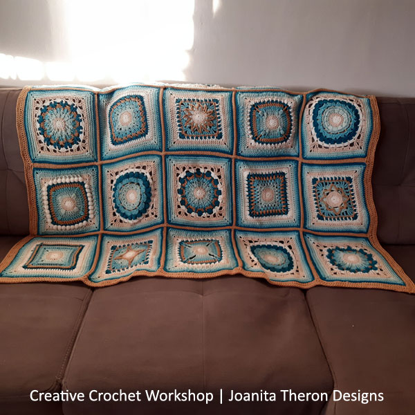 Crochet A Block 2021 | Creative Crochet Workshop @creativecrochetworkshop #crochetsquare #freecrochetalong #crochetblanket #crochetthrow #ccwcrochetablock2021