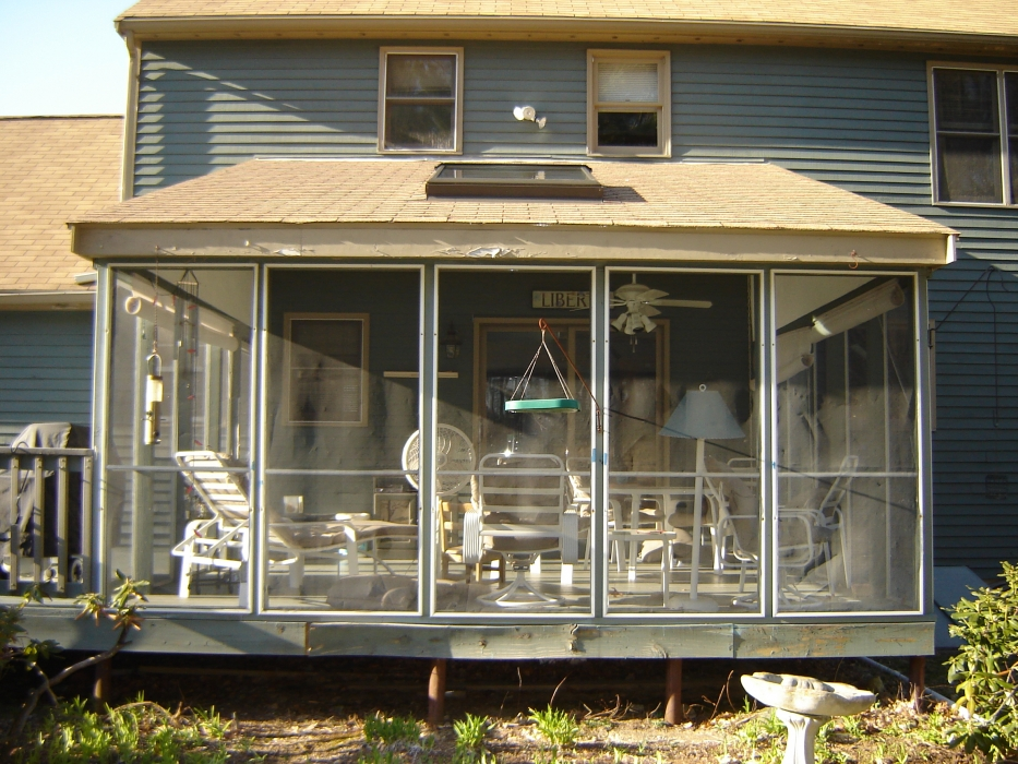 Screen Porch to Sunroom Conversion
