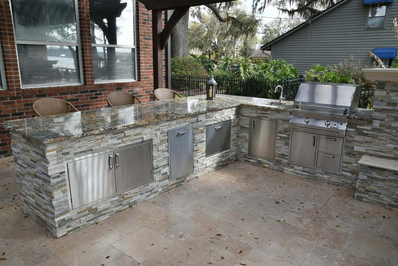 summer kitchens tall square kitchen table creative design space outdoor jacksonville custom by