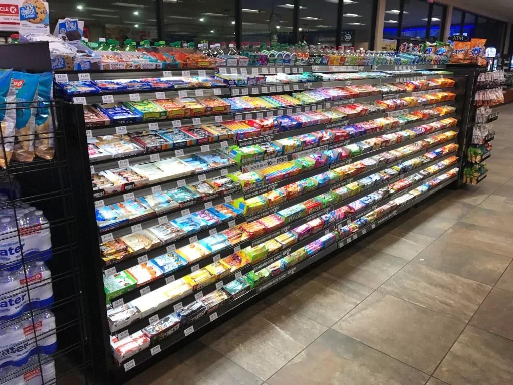 snack candy display racks creative