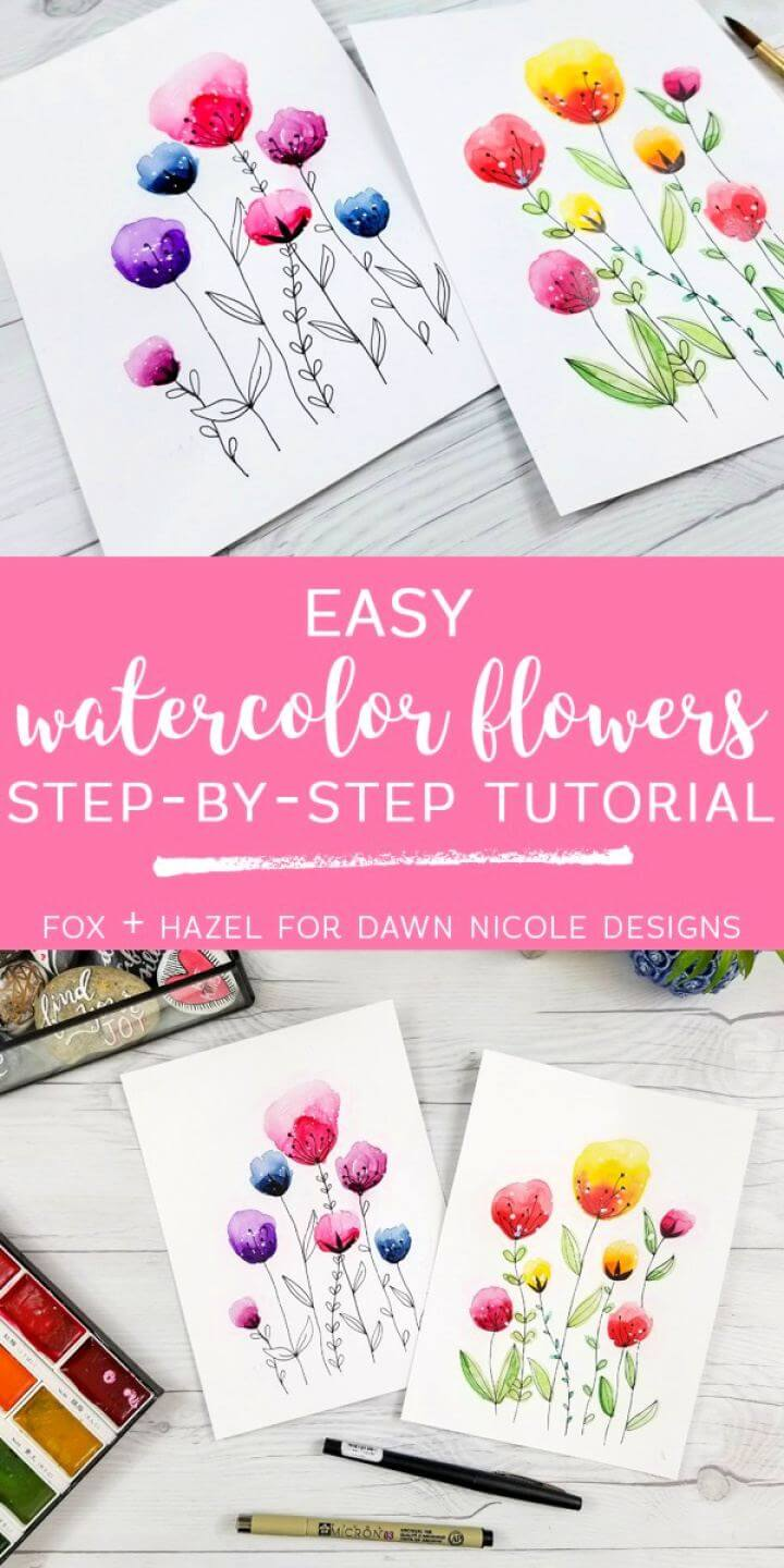 20 diy easy watercolor