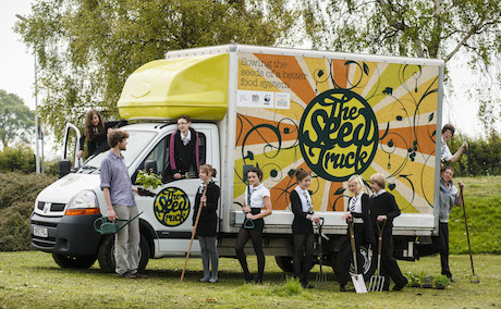 The Seed Truck visits Inverkeithing High School.