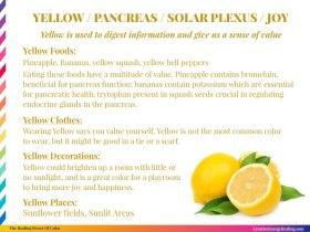 The Healing Power of Yellow!