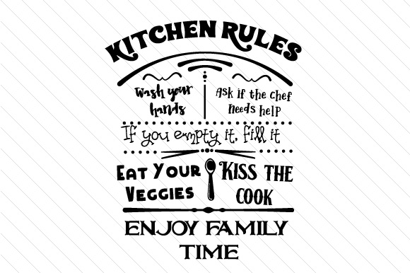 Kitchen Rules Sign SVG Cut file by Creative Fabrica Crafts