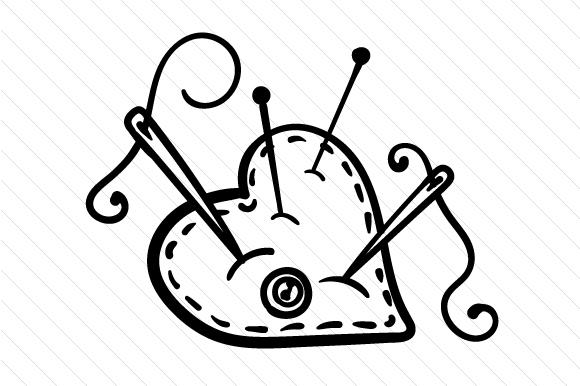 Pin cushion SVG Cut file by Creative Fabrica Crafts