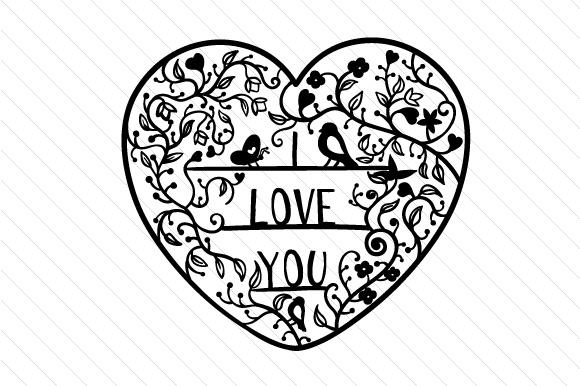 Download I love you - Intricate Floral Cut SVG Cut file by Creative ...