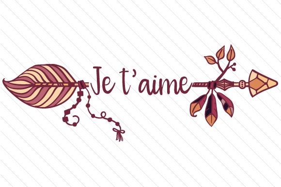 Je T'aime Arrow (SVG Cut file) by Creative Fabrica Crafts · Creative Fabrica