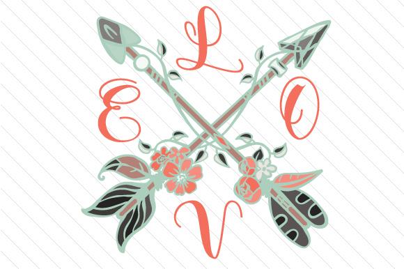 Download Love Cross Arrows (SVG Cut file) by Creative Fabrica ...