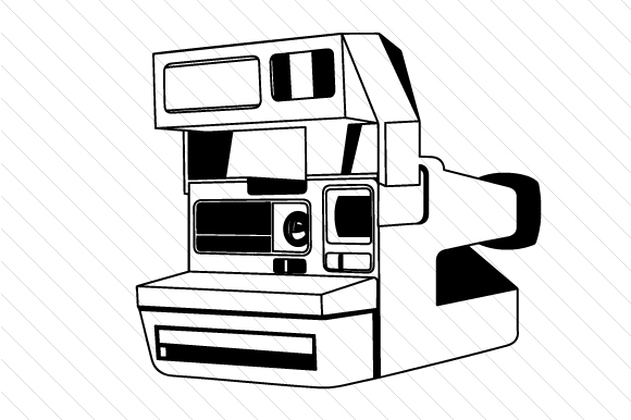 Polaroid Camera SVG Cut file by Creative Fabrica Crafts