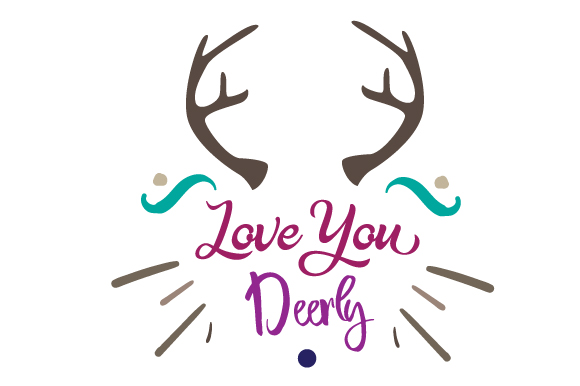Download Love You Deerly SVG Cut Files - Free Best Svg Cut Files